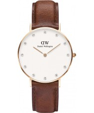 Daniel Wellington DW00100075 Ladies Classy St Mawes 34mm Rose Gold Watch