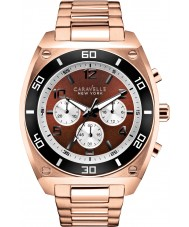 Caravelle New York 45A110 Mens Clark Rose Gold Chronograph Watch