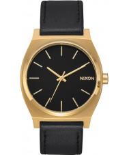 Nixon A045-2639 Mens Time Teller Black Leather Strap Watch