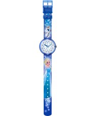 Flik Flak FLNP023 Girls Disney Frozen Elsa and Olaf Multicoloured Watch