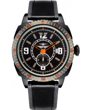 Dogfight DF0037 Mens Wingman Black Leather Strap Watch