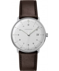 Junghans 041-4461-00 Max Bill Brown Leather Strap Watch
