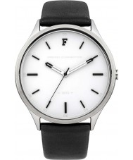 French Connection FC1241BW Mens Black Leather Strap Watch