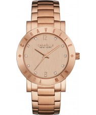 Caravelle New York 44L201 Ladies Boyfriend Rose Gold Steel Bracelet Watch