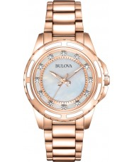 Bulova 98S141 Ladies Rose Gold Plated Bracelet Watch