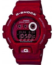 Casio GD-X6900HT-4ER Mens G-Shock World Time Red Heathered Print Resin Strap Watch