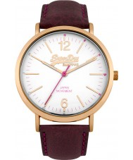 Superdry SYL194V Mens Oxford Purple Leather Strap Watch