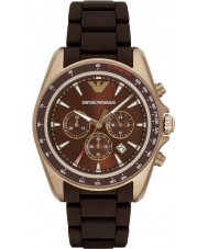 Emporio Armani AR6099 Mens Sports Two Tone Mixed Strap Watch