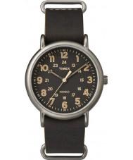 Timex TW2P85800 Mens Weekender Brown Leather Strap Watch