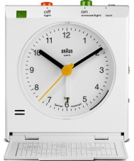 Braun BNC005WHWH Motion Actived Snooze Alarm Clock - White