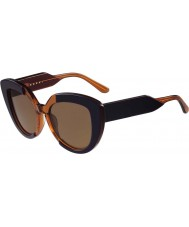 Marni Ladies ME601S Blue and Orange Sunglasses
