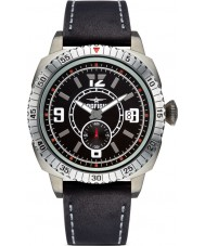 Dogfight DF0036 Mens Wingman Black Leather Strap Watch
