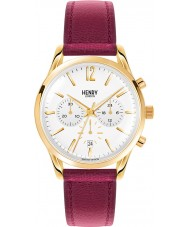 Henry London HL39-CS-0070 Ladies Holborn White Burgundy Chronograph Watch