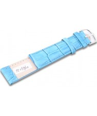 Krug Baümen TC19710G Neon Blue Leather Replacement Mens Principle Strap