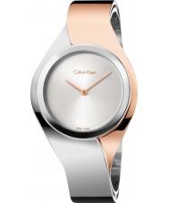 Calvin Klein K5N2S1Z6 Ladies Senses Two Tone Steel Bangle Watch
