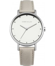 Karen Millen KM139C Ladies Grey Leather Strap Watch