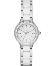 DKNY NY2494 Ladies Chambers White Ceramic Links Steel Watch