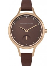 French Connection FC1274TRG Ladies Brown Leather Strap Watch
