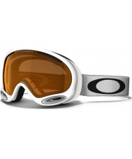 Oakley 59-638 A-Frame 2.0 Polished White - Persimmon Ski Goggles