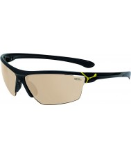 Cebe Cinetik Large Shiny Black Yellow Sunglasses