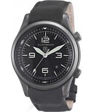 Elliot Brown 202-004-R06 Mens Canford Matt Black Leather Strap Watch