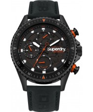Superdry SYG220BB Mens Steel Officer Watch