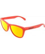 Oakley OO9013-48 Frogskins Matte Red - Fire Iridium Sunglasses