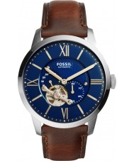Fossil ME3110 Mens Townsman Dark Brown Leather Strap Watch