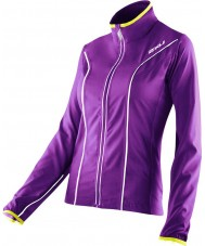 2XU WR2161A-PLQ-EYW-XS Ladies Elite Purple Lacquer and Excel Yellow Run Jacket - Size XS