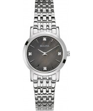 Bulova 96S148 Ladies Diamond Gallery Silver Steel Bracelet Watch