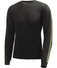 Helly Hansen Mens Dry Stripe Crew Black Baselayer