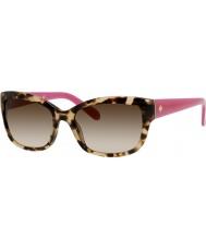 Kate Spade New York Ladies Johanna-S RYP Y6 Havana Pink Sunglasses