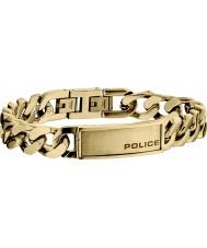 Police 25485BSRG-03-B Mens Revenge Rose Gold Plated Bracelet