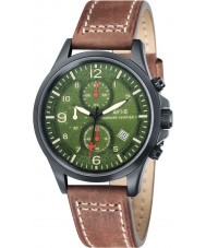 AVI-8 AV-4001-04 Mens Hawker Harrier II Chocolate Brown Leather Strap Chronograph Watch