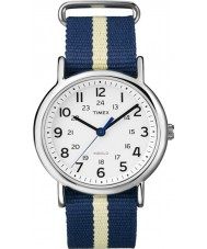 Timex Originals T2P142 Blue Weekender Slip Through Watch