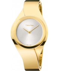 Calvin Klein K5N2S526 Ladies Senses Gold Steel Bangle Watch