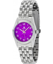 Marea 21161-3 Ladies Fashion Silver Steel Bracelet Watch