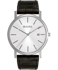 Bulova 96B104 Mens Dress Black Leather Strap Watch