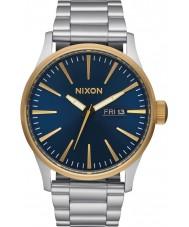 Nixon A356-1922 Mens Sentry Silver Steel Bracelet Watch