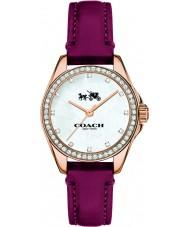 Coach 14502315 Ladies Tristen Purple Leather Strap Watch