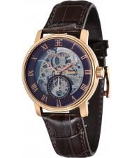 Thomas Earnshaw ES-8041-05 Mens Westminster Brown Crock Leather Strap Watch