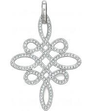 Thomas Sabo PE625-051-14 Ladies Zirconia Pave Knot Silver Pendant