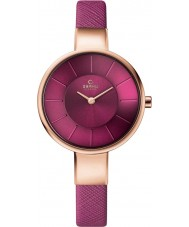 Obaku V149LXVQRD Ladies Purple Calf Leather Strap Watch