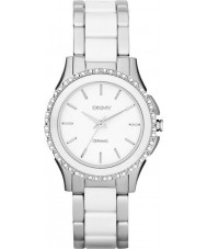 DKNY NY8818 Ladies Westside Ceramic White Silver Watch