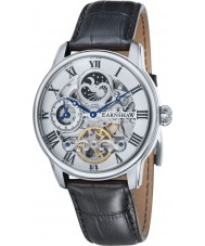 Thomas Earnshaw ES-8006-01 Mens Longitude Black Croco Leather Strap Watch
