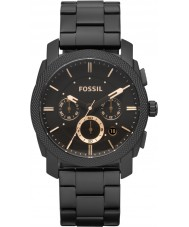 Fossil FS4682 Mens Machine Black Steel Chronograph Watch