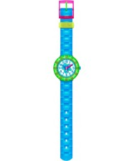 Flik Flak FCSP029 Girls Chewy Blue Silicone Strap Watch