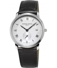Frederique Constant FC-245M4S6 Slimline Gents Black Leather Strap Watch