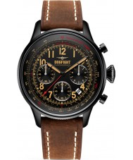 Dogfight DF0032 Mens Wingman Brown Leather Chronograph Watch