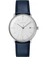 Junghans 041-4464-00 Max Bill Blue Leather Strap Watch